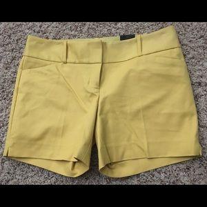 "Yellow/gold tailored short 5"" Inseam"